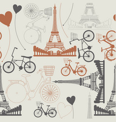 Few symbols of france as endless pattern vector