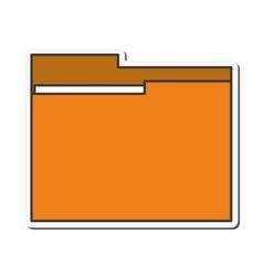 File folder document design vector
