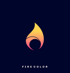 fire colorful design template vector image