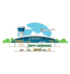 Flat airport vector