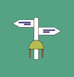 Flat icon design collection military signpost vector