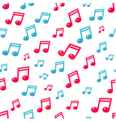 flat music note pattern vector image