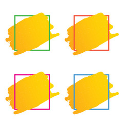 Frame set in various color vector