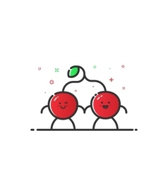 funny cherry character vector image