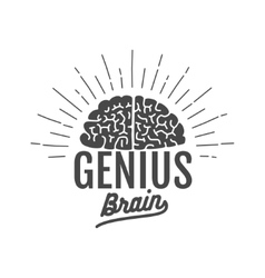 Genius brain logo vector