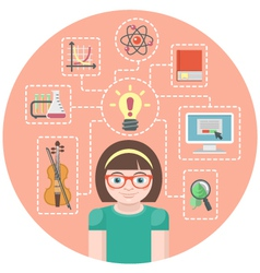 Genius Girl Concept vector image