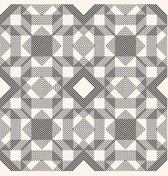geometric lines pattern abstract graphic black vector image