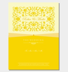 Gold Floral Invitation Cover vector