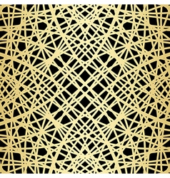 Gold pattern on black - crossed lines vector