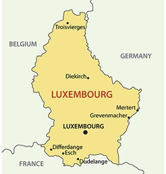 Grand Duchy of Luxembourg - map vector