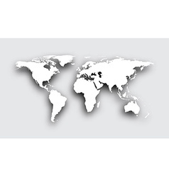 Gray 3d world map vector image