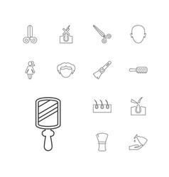 Hair icons vector