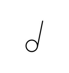 Half music tone icon vector