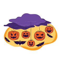 halloween holiday celebration decor clouds and vector image