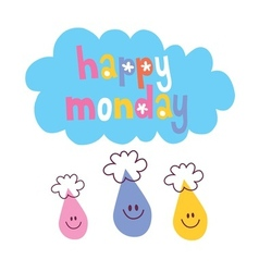 Happy Monday vector