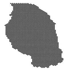 Hex tile tanzania map vector