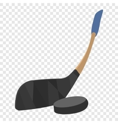 Hockey stick and puck vector