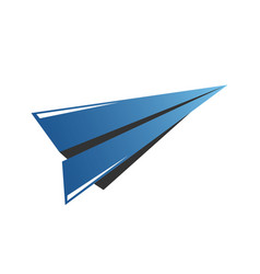 Icon of airplane wing in negative space travel vector