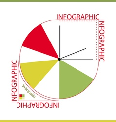 Infographic from color segments and hours vector