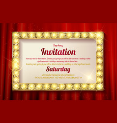 invitation card template banners vector image