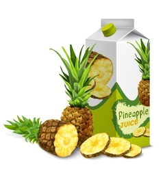 Juice pack pineapple vector image