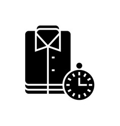 laundry - cleaning cloths - express cleaning icon vector image