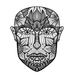 Man face of flowers vector