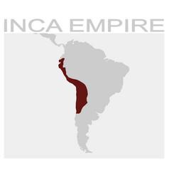 Map inca empire vector