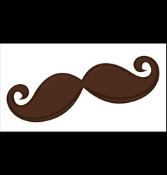 mustache funny accessories for carnival or vector image