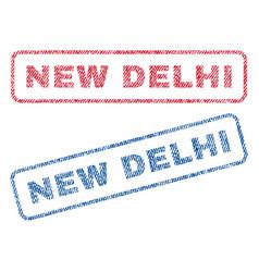 New delhi textile stamps vector