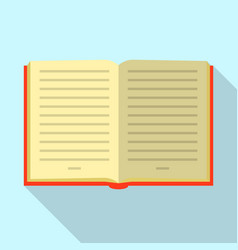 opened book icon flat style vector image