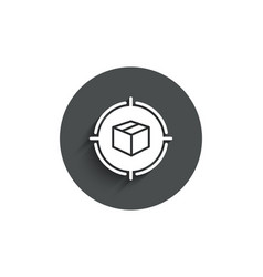 Parcel tracking simple icon delivery monitoring vector