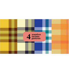 plaid checkered pattern in different colors vector image