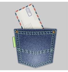 pocket and envelope vector image