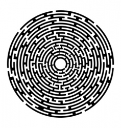 round maze izolated on white vector image