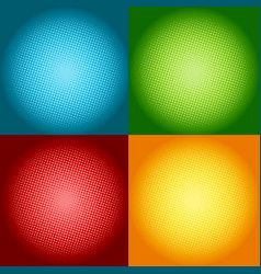 set of colorful halftone backgrounds with circle vector image
