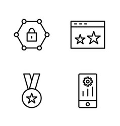 set of seo search engine optimization icons vector image