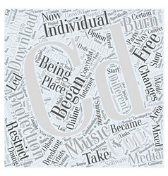 Stamping your CD with protection Word Cloud vector