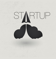 startup icon concept vector image