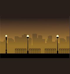 Street lamp landscape vector