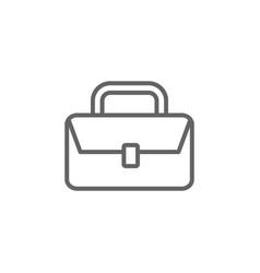 Suitcase outline icon elements business line vector