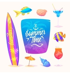 Summer elements Isolated vector