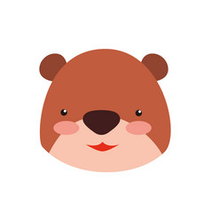 teddy bear cartoon infantile head vector image