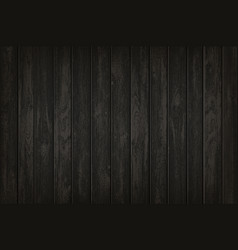Texture black wooden background template vector