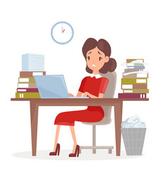 tired and sed business vector image