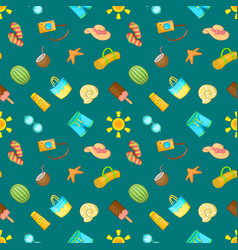 tropical pattern seamless cartoon style vector image