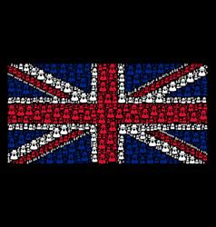 united kingdom flag pattern of spy items vector image