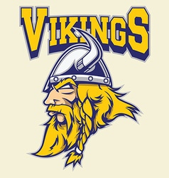 viking warrior mascot vector image