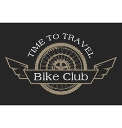 vintage emblem on topic cycling club vector image