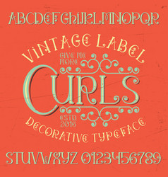 Vintage label curls poster vector